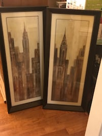 Matching Pair of Cityscape Pictures  Advance, 27006