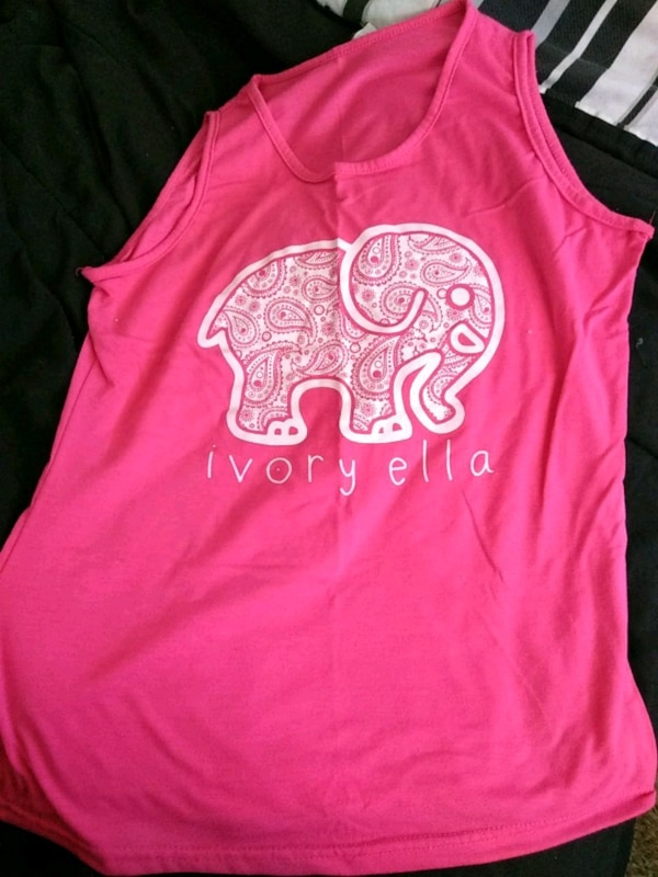 00f0f79b3 Used pink and white Ivory Ella tank top for sale in Lansing - letgo
