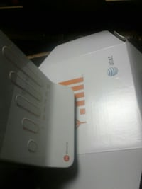 white and orange wireless modem router with box Louisville, 40228