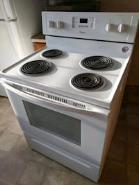 white and black 4-burner electric coil range oven Dumfries, 22026