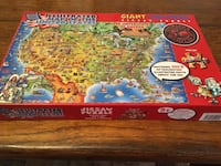 Puzzle: 500 pieces Map of United States Akron, 17501