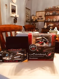 Brookstone U-Control  RC Helicopter And cyber Kidz RC Police Car