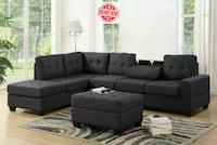 Reversible Sectional with Storage Ottoman Charco Houston, 77080