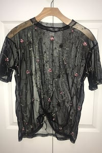Black mesh shirt/blouse Surrey, V3S 0Z1