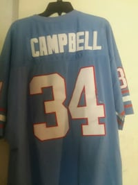 blue and white number 24 Campbell jersey Columbus, 31907
