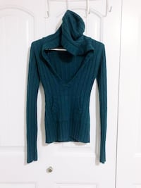 Teal Knit Hoodie - Size Small