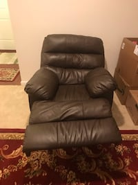 black leather sofa chair with ottoman Germantown, 20874