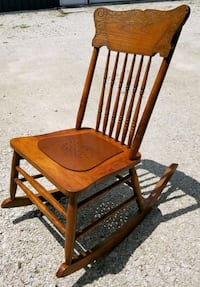 Antique Oak Children's Rocker Yorkville, 60560
