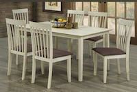 Brand new 7 pcs Solid wood Dinette