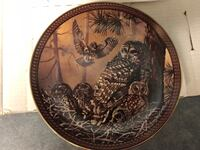 Barred Owl Family collector plate - by D.L. Rust - in orig box Surrey, V3V 7L9