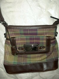brown and green Coach monogram shoulder bag Cincinnati, 45211