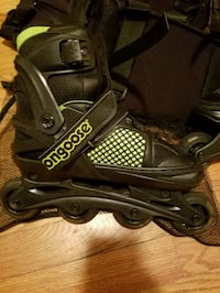Mongoose roller blades and pads