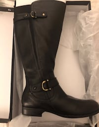a71b3346a3d Used Naturalizer Jillian wide calf Black Leather Boots - NIB - size 10 for  sale in Jersey City - letgo