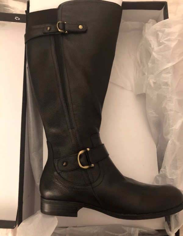5f2b2d1aa59 Used Naturalizer Jillian wide calf Black Leather Boots - NIB - size 10 for  sale in Jersey City - letgo