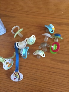 assorted color pacifiers