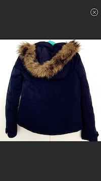 Blue and brown fur jacket Clarksburg