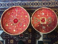 Indian temple platters. Fabric covered and embellished Potomac, 20854