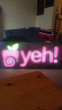 pink and black yeh neon sign Halifax