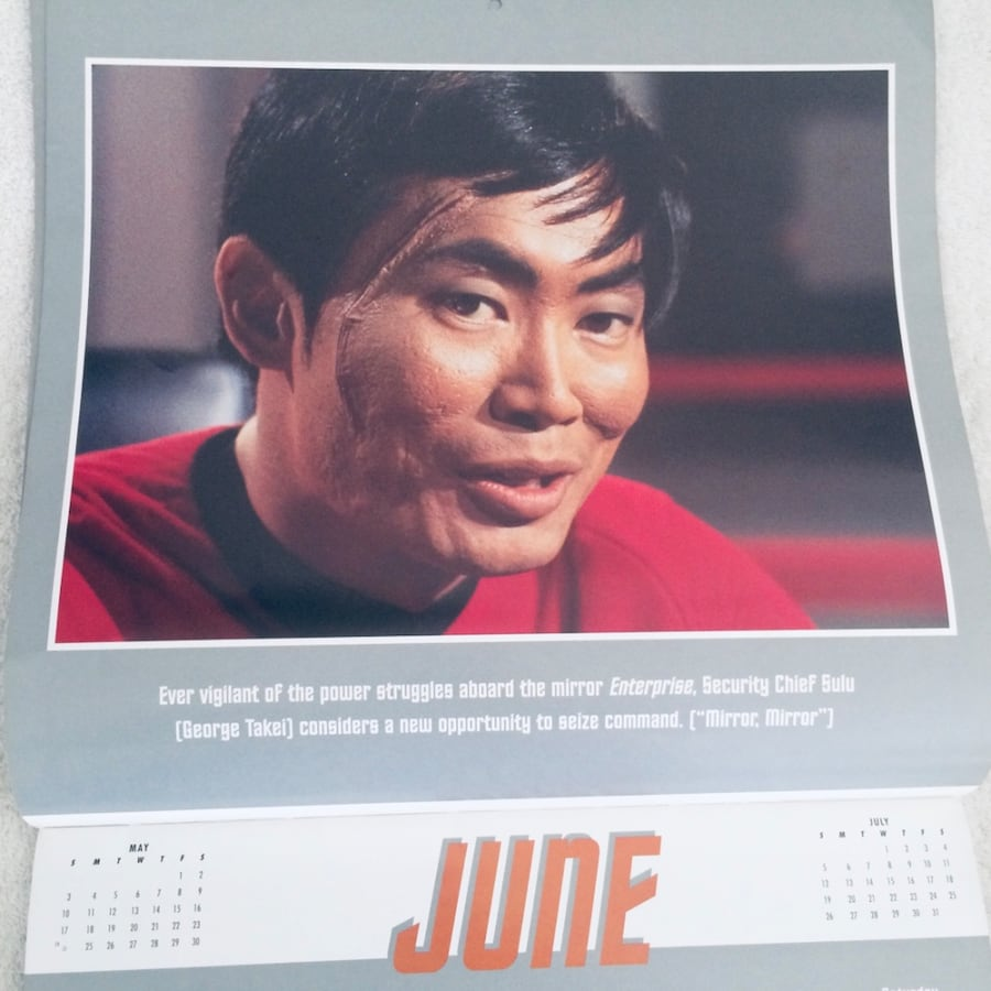 STAR TREK THE ORIGINAL SERIES 1998 CALENDAR 90c49dee-8415-429e-bad0-3236ad66df4b