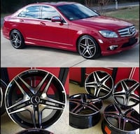 18 inch staggerd set of 4 MERCEDES AMG 63s blk West Caldwell