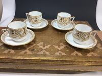Antique Demitasse Cups and Saucers  Burke, 22015