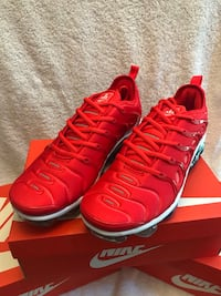 lowest price 186ce 8f117 Used Nike Vapormax Plus 4th of July Edition Red, White and Blue for sale in  Alabaster - letgo