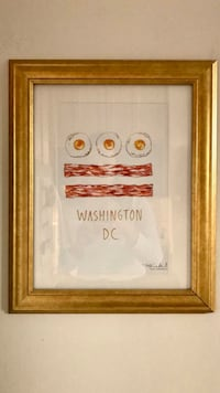 DC flag breakfast food, framed