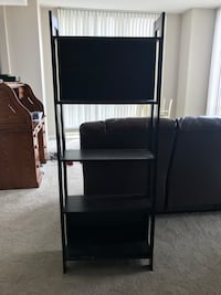 Black bookcase, lightweight, very easy to move Reston, 20190
