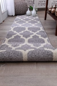 New Gray Trellis rug 2x8 runner