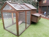 brown wooden pet cage with black metal frame Greater London, DA17 6EA