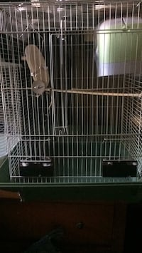 White and black metal pet cage Halifax, B3N 2N2