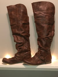 Size 11 designer 'Carlos Santana' WIDE CALF over the knee boot