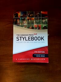 York University Textbook: The Canadian Press Stylebook: A Guide for Wr Toronto
