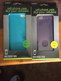 two teal and purple iPhone cases with packs Cottonport, 71327