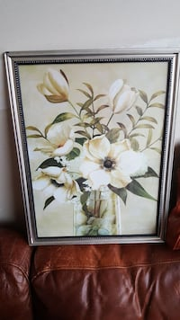 white petaled flowers on clear glass vase painting Coaldale, T1M 1P6