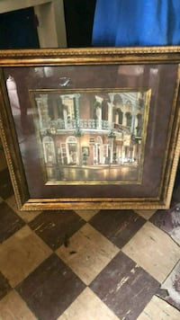 brown wooden framed painting of building Bessemer, 35020