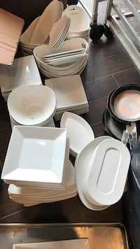 white ceramic dinnerware set