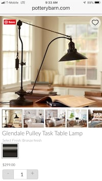 Pottery Barn Glendale Pulley Table Lamp Fairfax, 22031