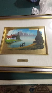 brown wooden framed painting of house near body of water Montréal, H9H 5C5