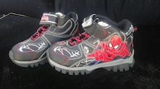 toddler's black with Spiderman print shoes