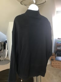 Tommy bahama black long sleeve pull over with zip front good condition size xl great condition  Alexandria, 22315
