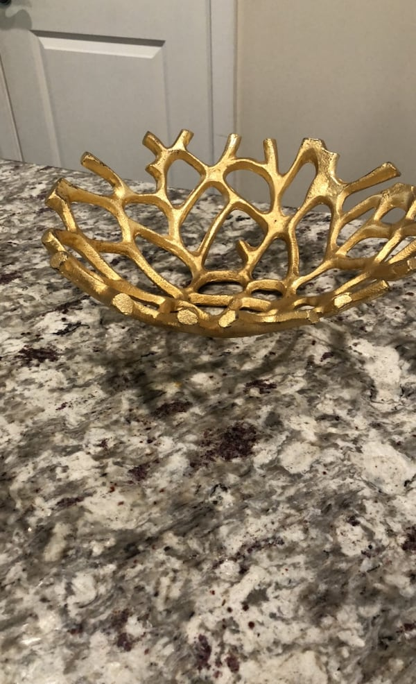 Gold Branch Decorative Bowl 0