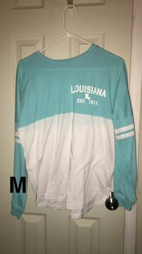 teal and white Hollister crew-neck shirt Pierre Part, 70339