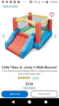 Little tikes jr. Jump 'n slide bouncer - brand new