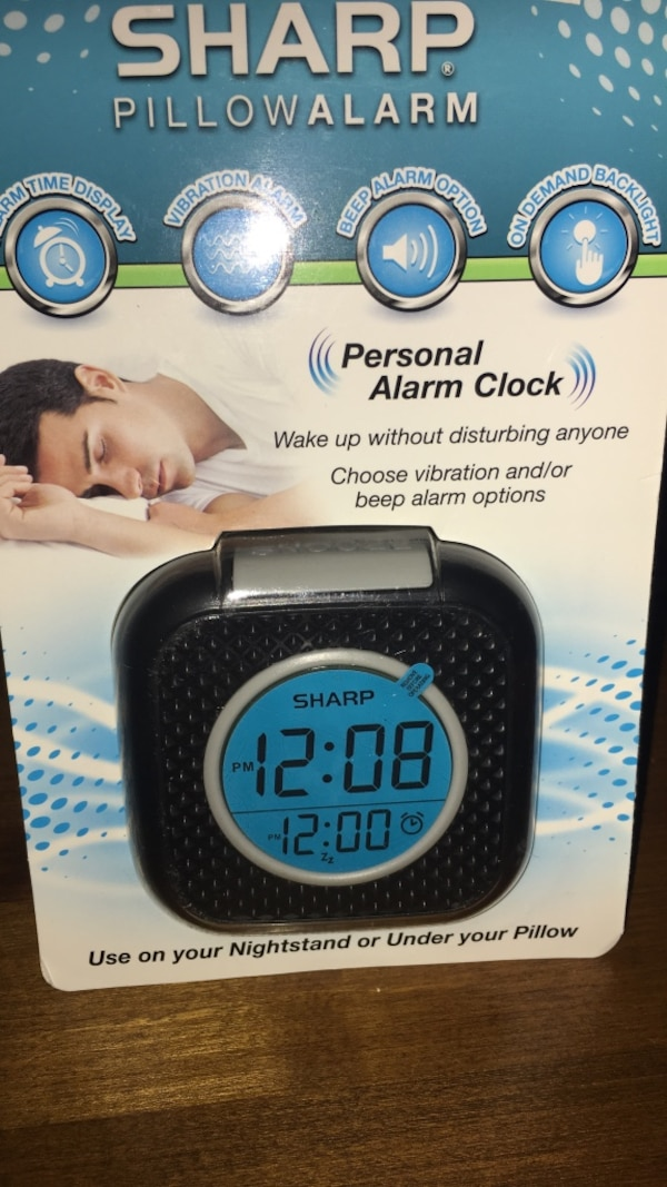 Sharp Pillow alarm personal alarm clock