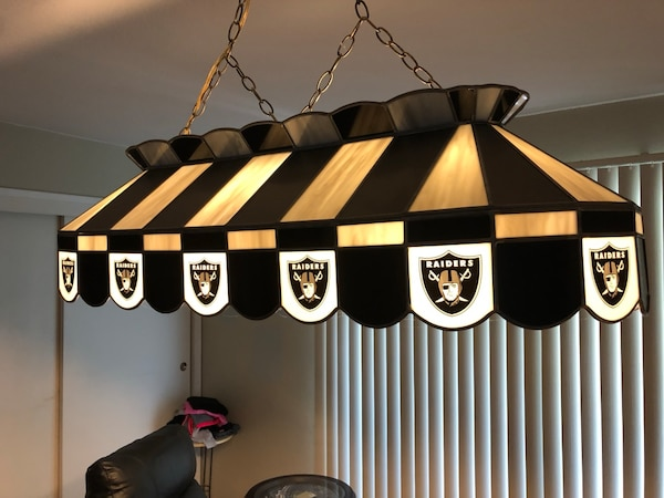 Used Raiders Stained Glass Pool Table Lamp For Sale In Livermore Letgo