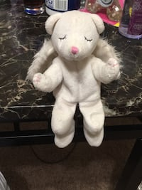 White and pink bear plush toy Seven Corners, 22044