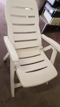 White wooden framed white padded armchair Toronto, M4X