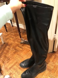 black leather knee high boots Vaughan, L4L 8H4