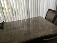 Dining room table $100 wood and glass shelf's 2. $25 ea Tampa